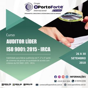 Grupo OPorto Forte oferece curso Auditor Líder ISO 9001:2015