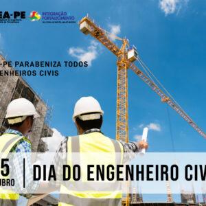 Dia do Engenheiro Civil é celebrado no Crea-PE