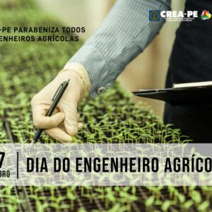 Parabéns do Crea-PE a todos os engenheiros agrícolas