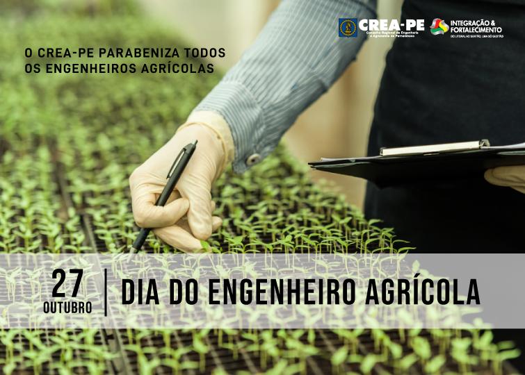 Read more about the article Parabéns do Crea-PE a todos os engenheiros agrícolas