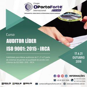 OPortoForte inscreve para curso de Auditor Líder ISO 9001:2015
