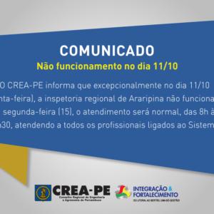 COMUNICADO – INSPETORIA EM ARARIPINA