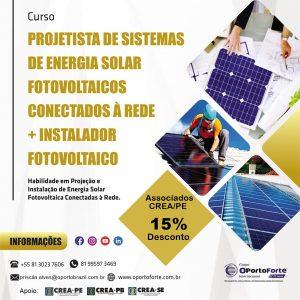 O PortoForte inscreve para curso de Projetista de Sistema de Energia Solar Fotovoltaica