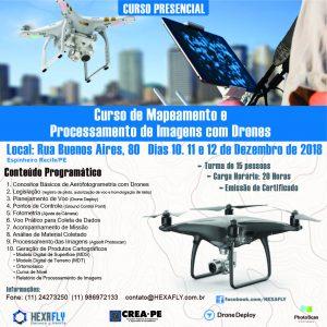 Hexafly inscreve para segunda turma do curso de Mapeamento e Processamento de Imagens com Drones