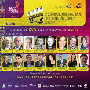 Recife sediará seminário internacional sobre iluminação pública