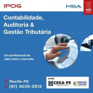 IPOG oferece MBA em Contabilidade, Auditoria e Gestão Tributária