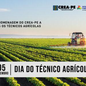 Parabéns do Crea-PE a todos os Técnicos Agrícolas