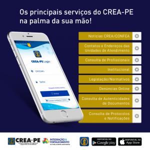 Crea-PE oferece serviços por meio de aplicativo
