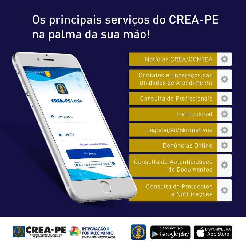 Read more about the article Crea-PE oferece serviços por meio de aplicativo