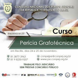 Curso de Perícia Grafotécnica será realizado nos dias 24 e 25 de novembro