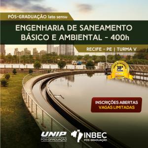 INBEC está com últimas vagas para o curso de Pós-graduação em Engenharia de Saneamento Básico e Ambiental