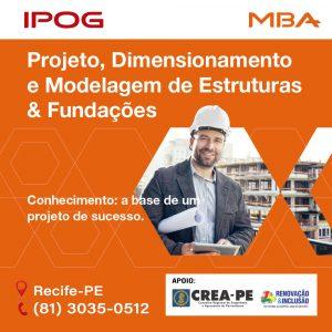 IPOG oferece MBA Projeto, Dimensionamento e Modelagem de Estruturas e Fundações