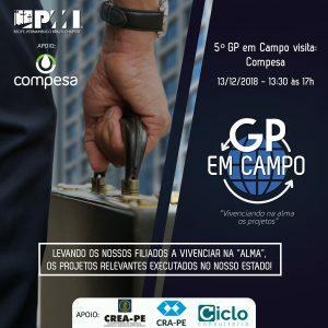 5° GP em Campo visitará Compesa em 13 de dezembro