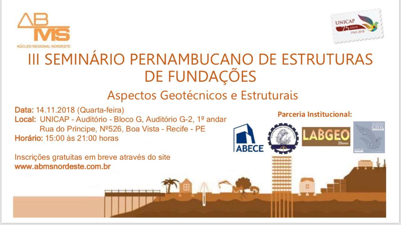 Read more about the article III Seminário Pernambucano de Estruturas de Fundações