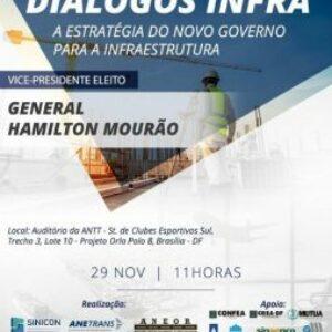 """Confea transmitirá ao vivo debate """"A estratégia do novo governo para a infraestrutura"""" hoje (29), a partir das 11h, horário de Brasília"""