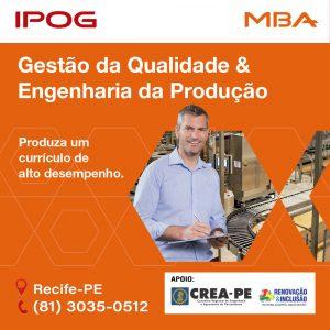IPOG oferece MBA em Gestão da Qualidade e Engenharia da Produção
