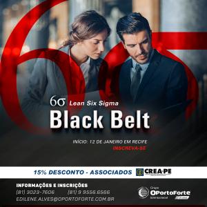 Curso Upgrade Black Belt: início 12 de janeiro em Recife