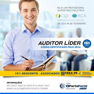 Read more about the article Curso de Formação de Auditor Líder ISO 9001:2015 – 12 a 16 de fevereiro