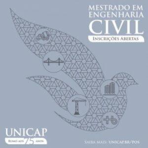 Aberta inscrições na UNICAP para mestrado em Engenharia Civil