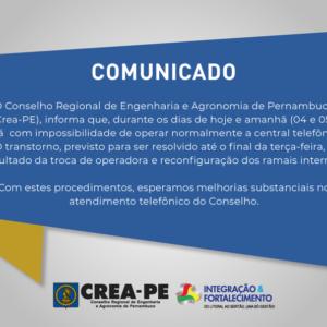 COMUNICADO CENTRAL TELEFÔNICA