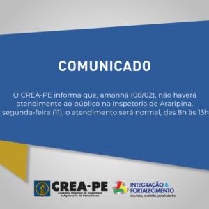 COMUNICADO – INSPETORIA DE ARARIPINA