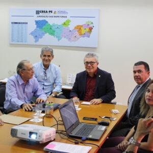 Prefeito de Palmares visita presidente do Crea-PE para pedir avaliação das condições da Barragem de Serro Azul
