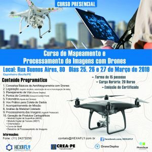 Parceria entre Hexafly e Crea-PE traz Curso de Mapeamento e Processamento de Imagens com Drones