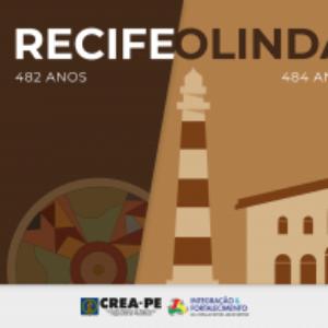 Chegou março mês de comemorar o aniversário das cidades-irmãs Recife e Olinda
