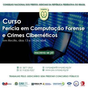 Curso de Perícia em Computação Forense e Crimes Cibernéticos – 13 e 14 de abril