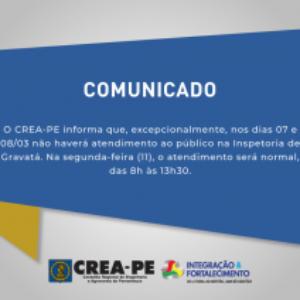 COMUNICADO – INSPETORIA DE GRAVATÁ