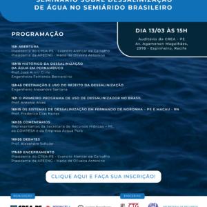 Seminário: Dessalinização de Água no Semiárido Brasileiro