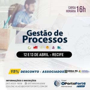 Curso Gestão de Processos – 12 e 13 de abril em Recife