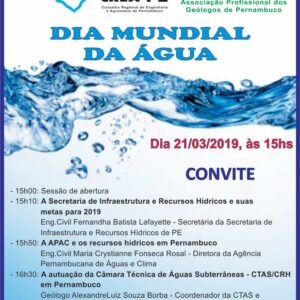 Palestra Dia Mundial da Água – 21 de março, 15h no auditório do Conselho