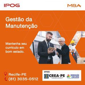 MBA em Gestão da Manutenção do IPOG: Você o profissional que o mercado procura