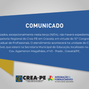 EXPEDIENTE DA INSPETORIA REGIONAL DE GRAVATÁ NO DIA 16/04