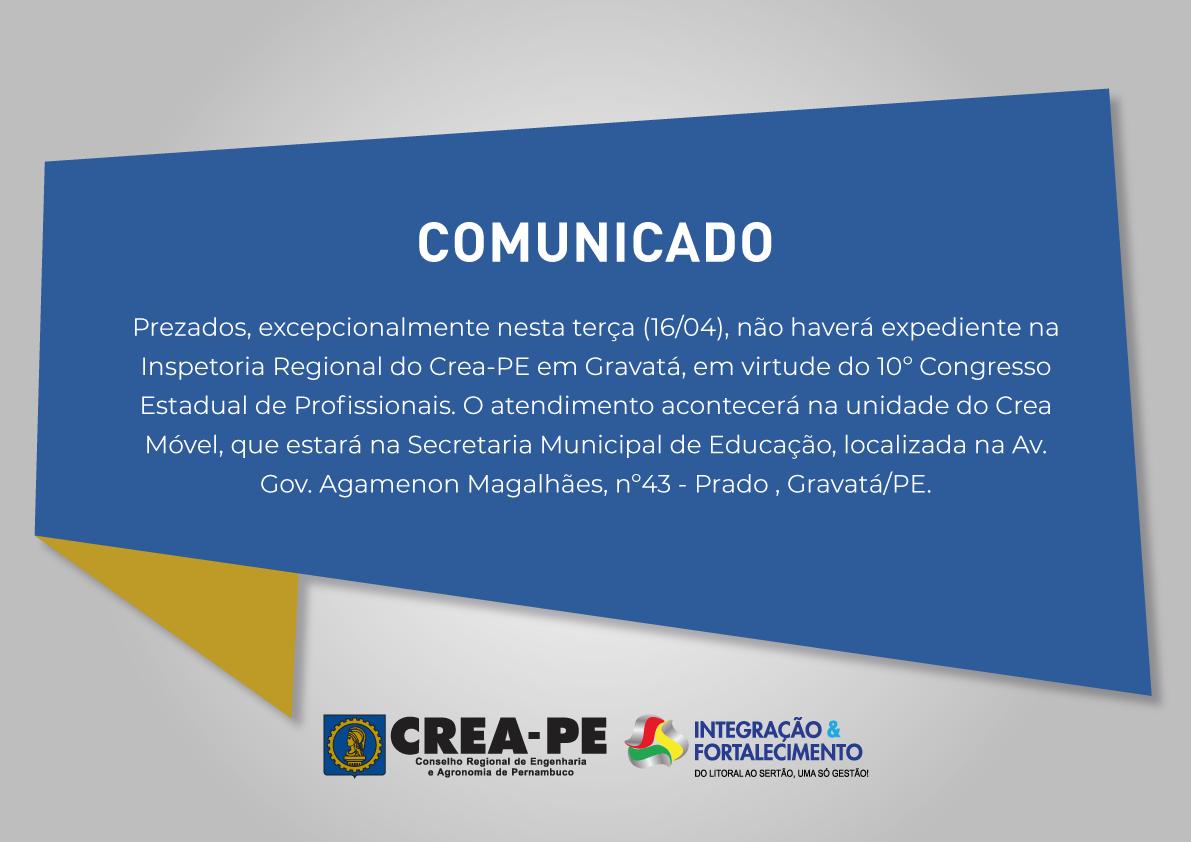 Read more about the article EXPEDIENTE DA INSPETORIA REGIONAL DE GRAVATÁ NO DIA 16/04