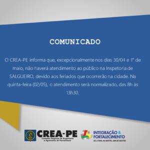 COMUNICADO – INSPETORIA SALGUEIRO