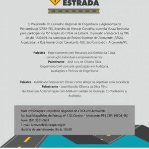 Arcoverde abrirá a 15ª edição do Crea na Estrada no exercício de 2019