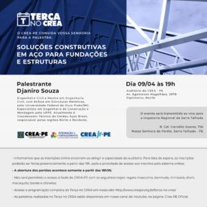 Soluções Construtivas em Aço para Fundações e Estruturas é tema do próximo Terça no Crea