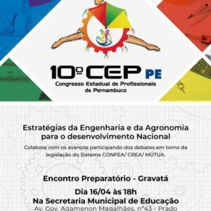 Crea-PE realiza 1º Encontro Preparatório do 10º CEP em Gravatá