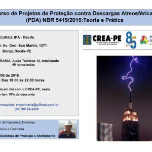 Curso de Projetos de Proteção contra Descargas Atmosféricas