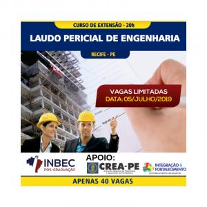 INBEC ESTÁ COM NOVA TURMA PARA O CURSO DE EXTENSÃO EM LAUDO PERICIAL DE ENGENHARIA