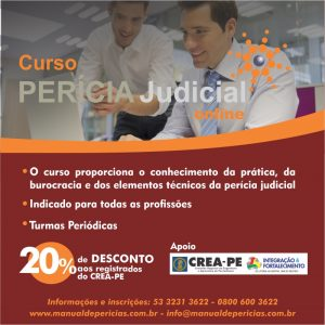 Curso Perícia Judicial Online – Turmas agendadas mensalmente