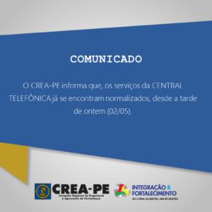 ATENÇÃO! COMUNICADO CENTRAL TELEFÔNICA