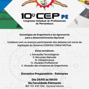 Palmares receberá o 4º Encontro Preparatório do 10º CEP