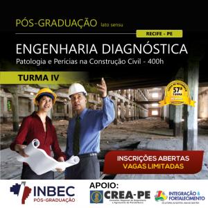 Matricule-se no curso de pós-graduação em Engenharia Diagnóstica turma IV, do INBEC Recife