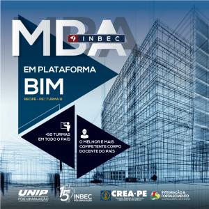 MBA em Plataforma BIM – INBEC turma III, em Recife-PE