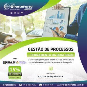Curso de Gestão de Processos + Ferramenta de Qualidade, em Recife/PE nos dias 6, 7, 13 e 14 de junho