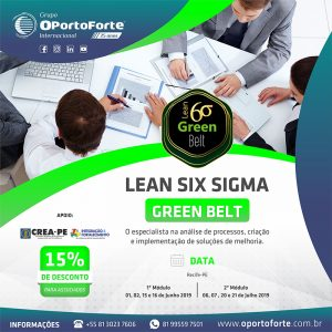 Curso Lean Six Sigma Green Belt do OPorto Forte em Recife-PE