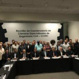 Coordenador Adjunto do Crea-PE participa, em Brasília, da reunião das Coordenadorias de Câmaras Especializadas de Engenharia Civil